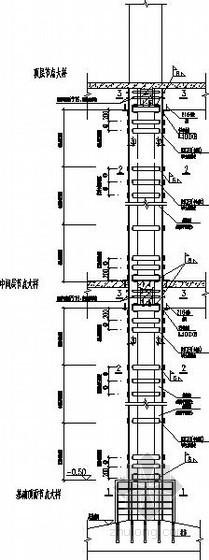 外包钢加固柱节点构造详图