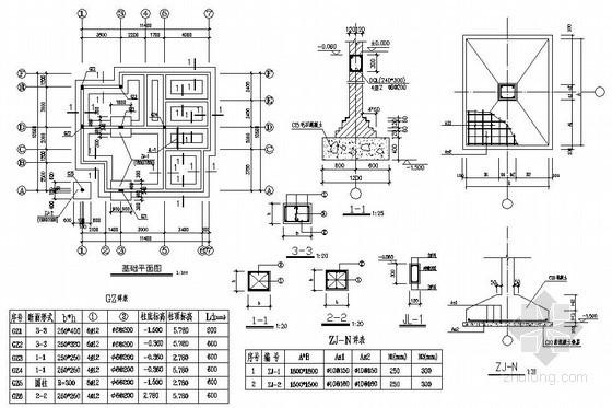 某三层新型农村住宅建筑结构设计图