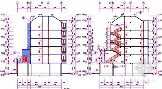 [安徽]三栋小区居民楼建设安装工程预算书(全套图纸软件文件)-剖面图