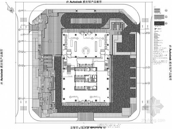 [重庆]现代金融商业区景观规划设计施工图