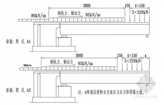 八度地震区双线客专直曲线矩形空心桥台设计图