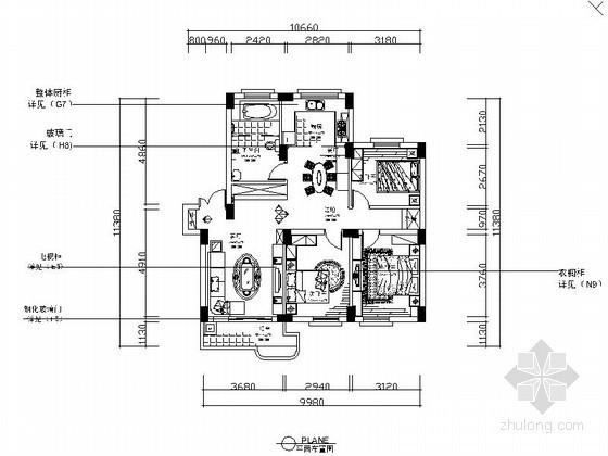 三室两厅简单家装装修图