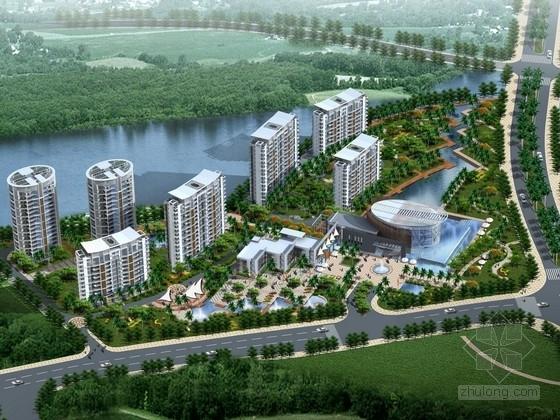 [海南]某滨海住宅区规划及单体设计方案文本(含CAD)