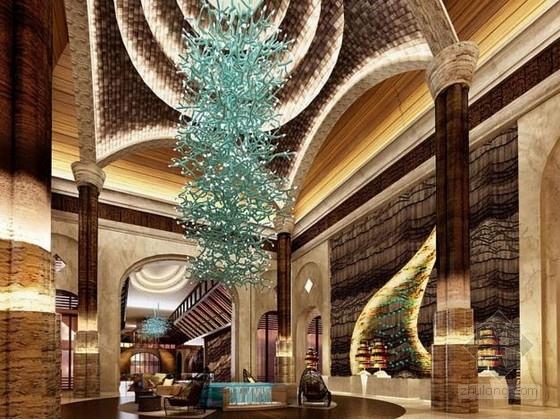[三亚]艺术特色中式低调奢华五星级酒店设计方案