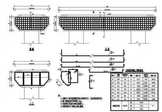 公路人行天桥盖梁钢筋节点详图设计