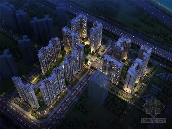 [深圳]简约古典风格高层住宅小区规划设计方案文本