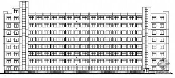 某农业大学11号八层学生公寓建筑方案图