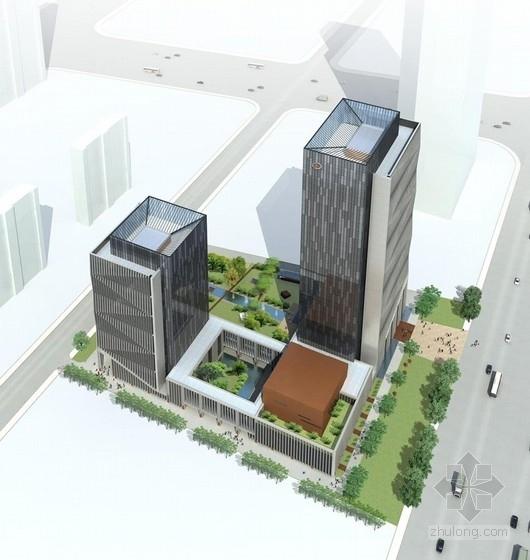 [山东]现代超高层褶皱表皮式科研办公楼建筑设计方案文本
