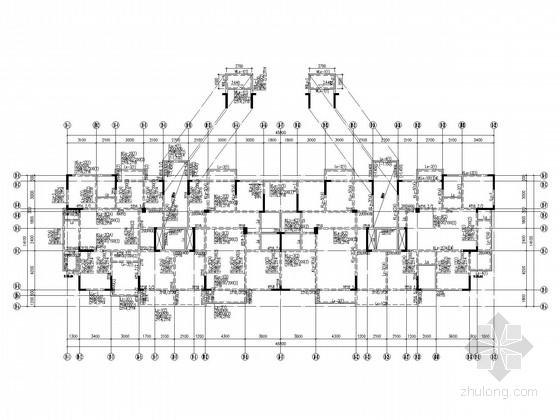 12层带跃层住宅结构施工图