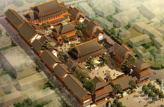 [杭州]知名寺庙复建规划文本及单体古建设计(含CAD、灯光、实景及施工照片、陈设品设计等)