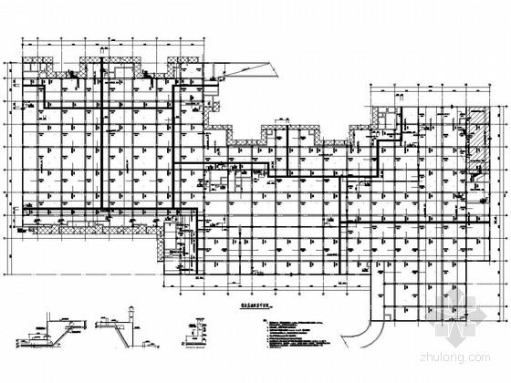 北京地下一层车库结构施工图(筏板基础)