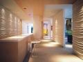 公司前台办公空间3D背景墙板效果图