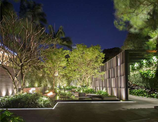 极具巴西风情的入口庭院景观设计图片