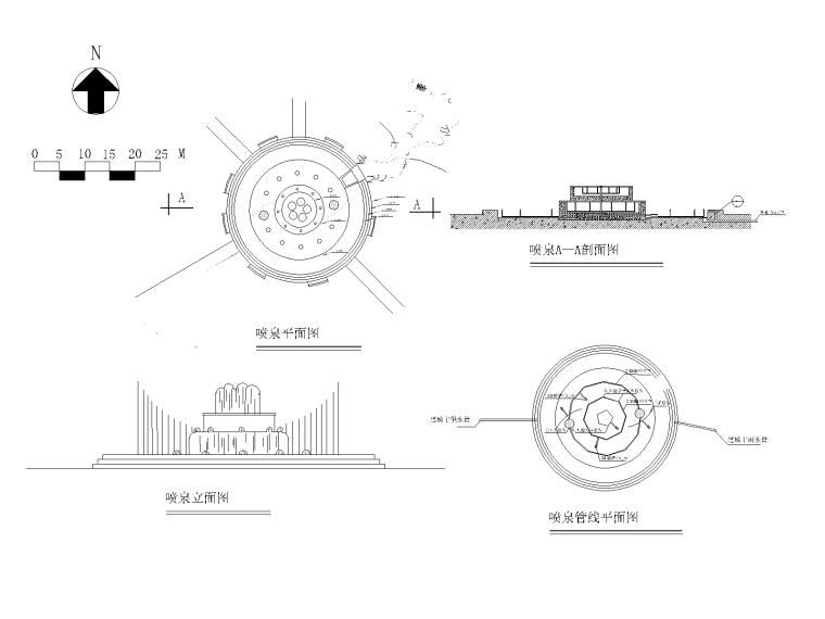 精选水景喷泉施工图(25套)