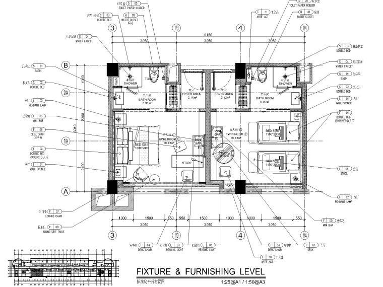 [福建]CCD--福州温泉公园酒店设计方案+CAD施工图