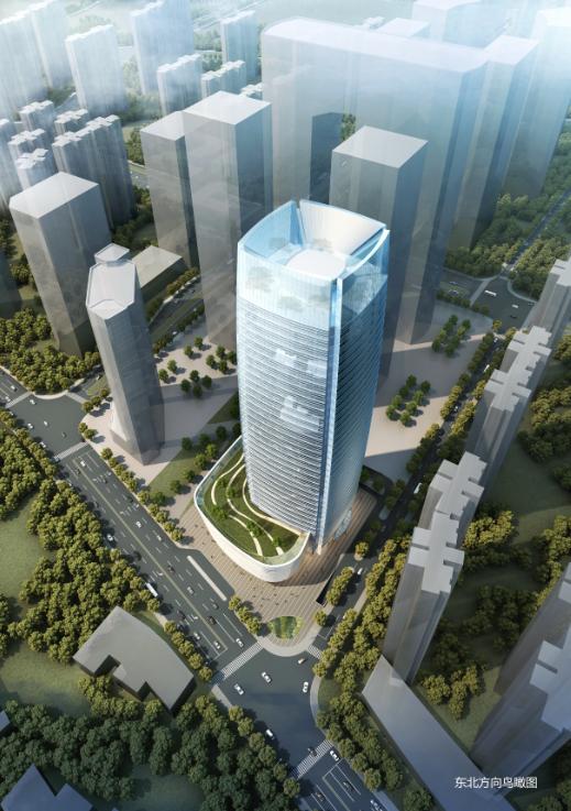 超高层长沙现代风格滨江办公楼项目方案文本