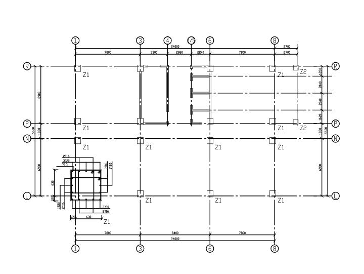 9层框剪结构宾馆结构施工图(CAD、37张)_2