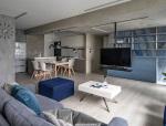 106m²高雄.现代蓝调双人公寓