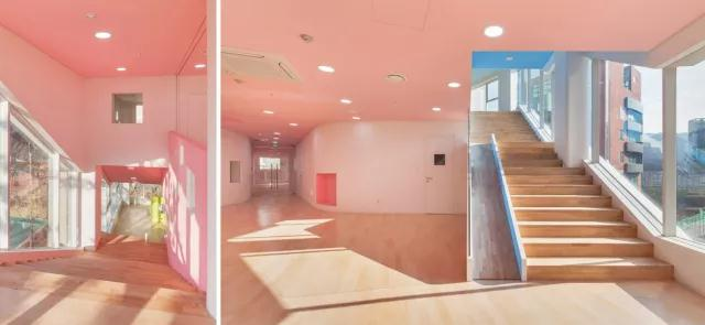 首尔幼儿园设计|空间结构与色彩搭配_9