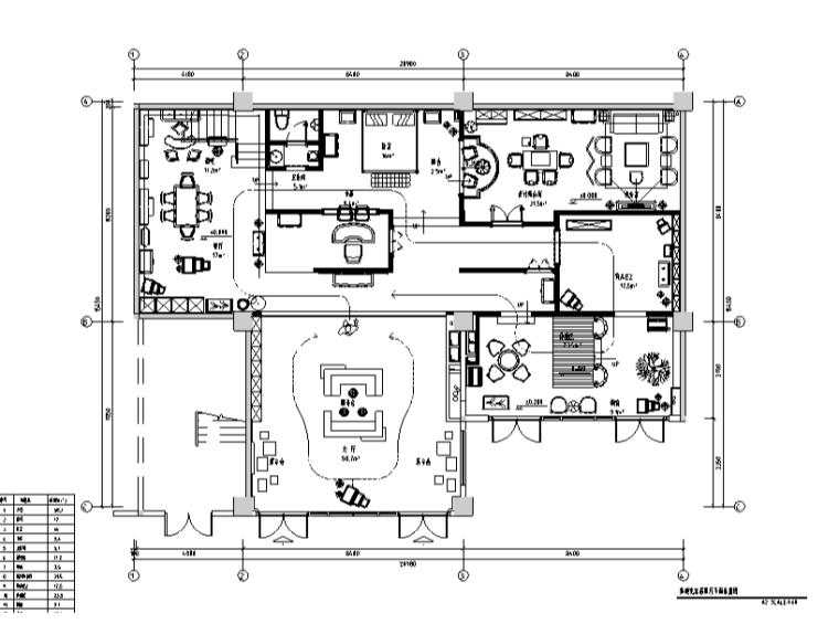 混搭风格美迪克家具展厅设计施工图(附效果图)