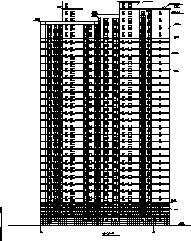 高层塔式商场住宅建筑施工图