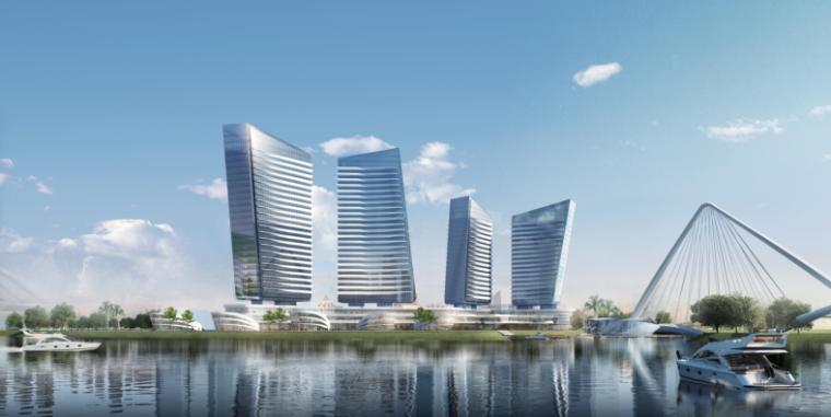 [BIM案例]高层风帆造型城市综合体建筑设计方案文本