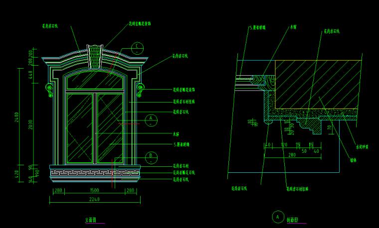 仿古窗户CAD大样样图(中式+欧式)