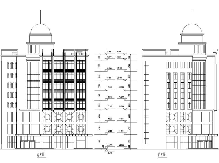 10套宾馆酒店建筑方案初设图CAD