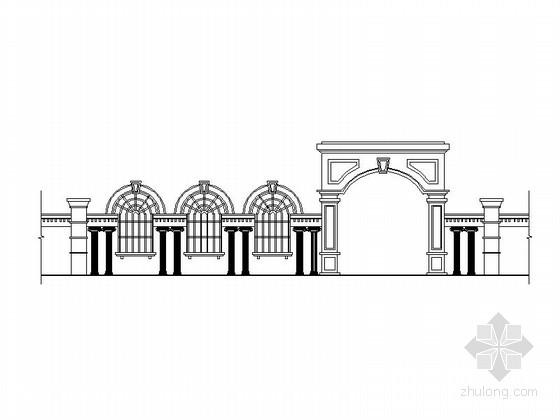 [合集]24套大门建筑施工图(学校、接待中心、公司大门、欧式)_20