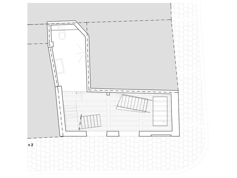 比利时一室小型酒店建筑平面图 (16)