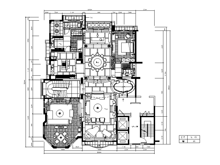 【北京】两套时尚经典别墅设计CAD施工图_1