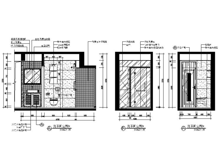 【广东】现代中式风格别墅设计CAD施工图(含效果图)_5