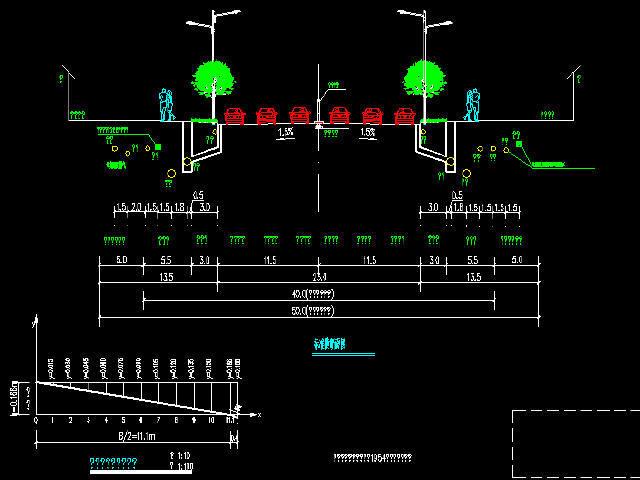 一幅路市政道路工程施工图设计121张(道路照明管线交通)