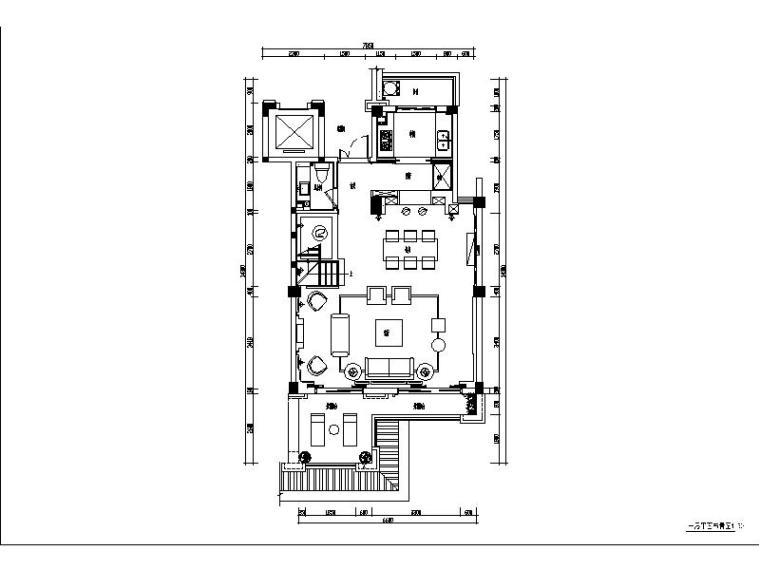 [福州]简约欧式奢华别墅装修设计施工图(含实景图)