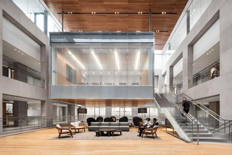 哥特式学术建筑普林斯顿大学校园内部实景图 (4)