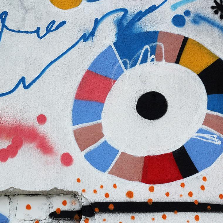 立陶宛房屋外墙上涂鸦景观-8