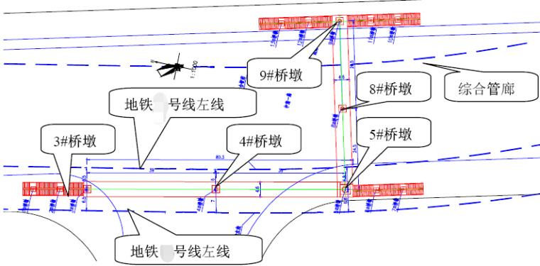 2017年设计不对称跨径39+39m带顶棚钢箱梁L型人行天桥设计图纸81页_3