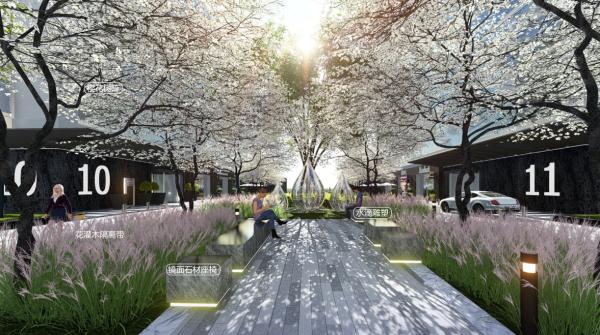 [上海]滨湖现代商业办公区地块景观设计方案
