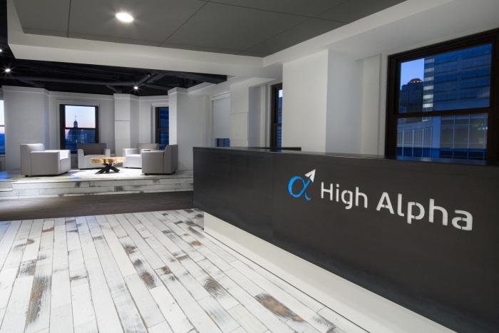 高阿尔法的概念化办公室装修设计