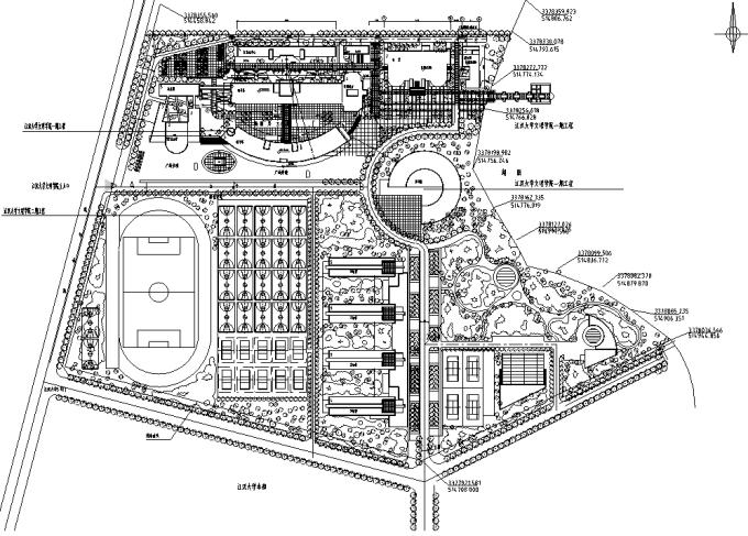 校园绿地景观规划设计CAD平面图41套 室外景观CAD图块 筑龙园林景