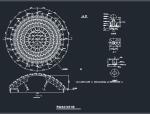 网架结构与支座反力节点详图