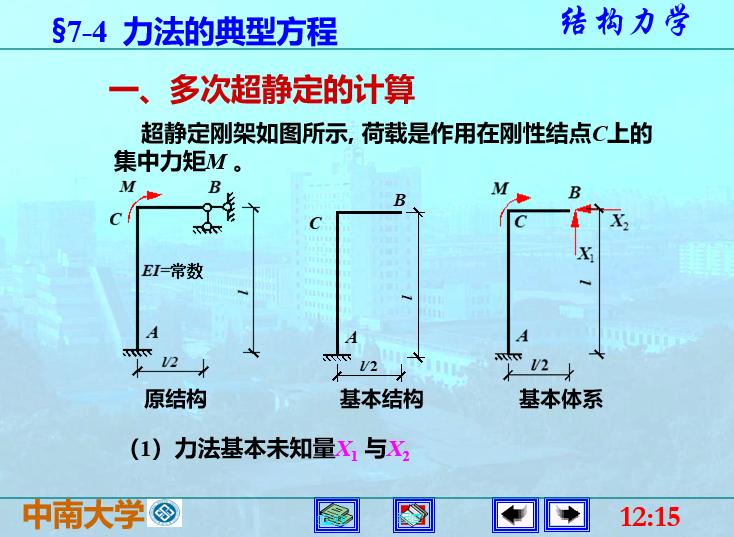 结构力学李廉锟版-力法_5
