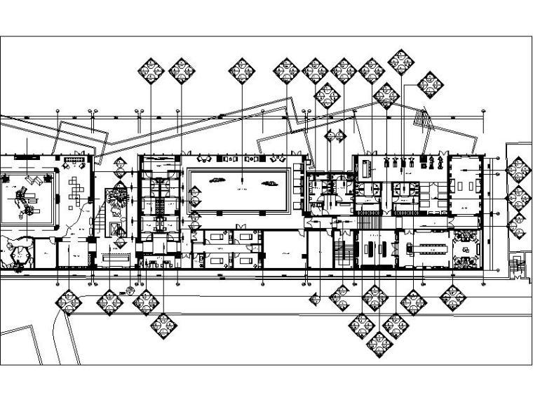 [江苏]江南文化现代会所装修设计施工图(含实景图)