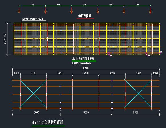预应力混凝土管桩光伏支架设计图_1