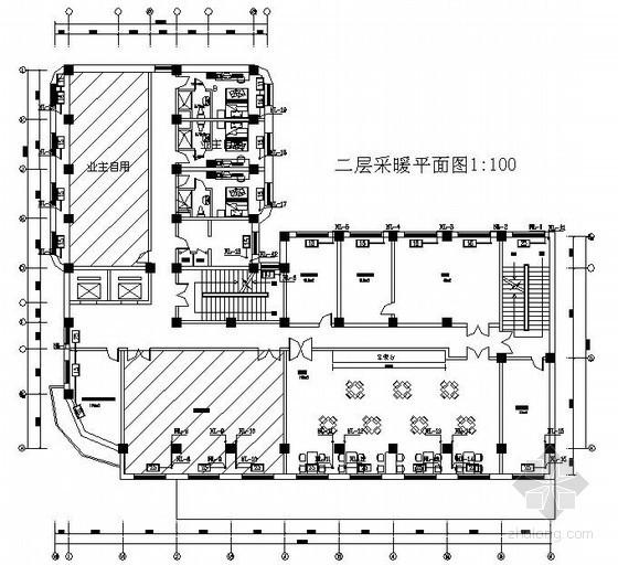 快捷酒店采暖设计图纸