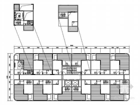 酒店式公寓LOFT户型组合平面图