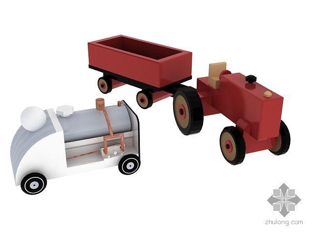 儿童玩具-拖拉机、消防汽车
