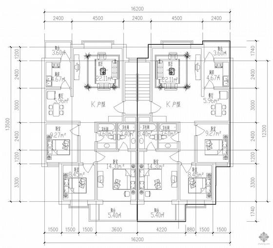 板式多层单户户型图(115/115)