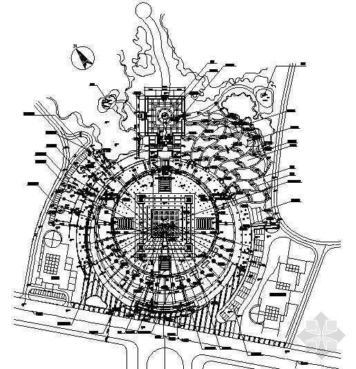 重庆现代广场景观工程全套施工图
