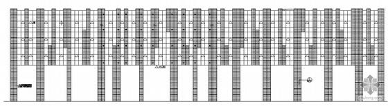[成都市武侯区]某六层商业楼外墙装饰玻璃幕墙建筑施工图